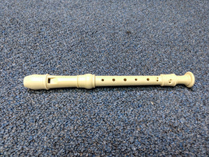 NEW Recorder Generic Soprano Cream With Cleaning Rod