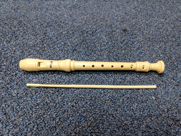 NEW Stagg Plastic Recorder Baroque Beige