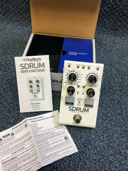 NEW Digitech Sdrum Strummable Beat Groove Generator Pedal