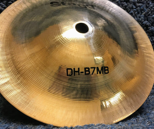 "NEW Stagg DH-B7MB 7"" Medium Brilliant Bell Cymbal"