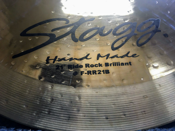 "NEW Stagg 21"" Rock Ride Cymbal"