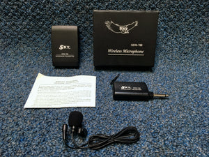 New Sky SDM-788 Lavalier  Wireless Mic w/belt clip transmitter and receiver