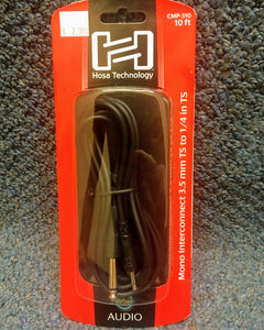 Hosa Technology 10'  3.5mm to 1/4 in. Mono Cable