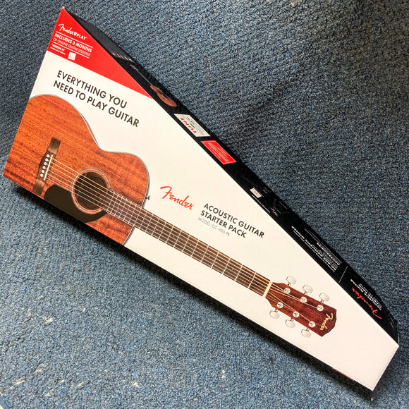 NEW Fender Acoustic Guitar Starter Pack - Mahogany CC-60S