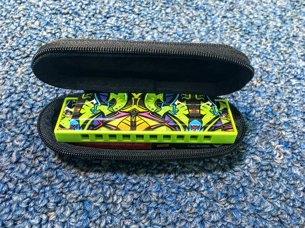 NEW Hohner The Green Dragon Tagged Harmonica Key C w/Case