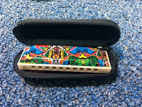 NEW Hohner The White Cobra Tagged Harmonica Key G w/Case