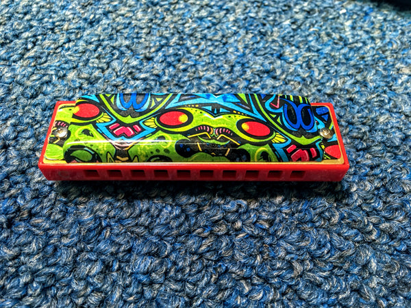 NEW Hohner The Red Dragon Tagged Harmonica Key G w/Case