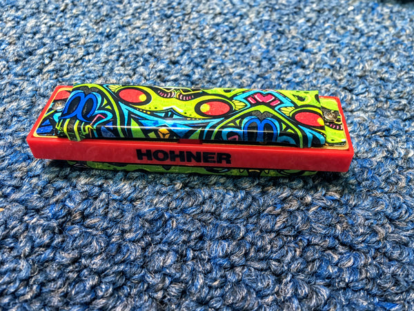 NEW Hohner The Red Dragon Tagged Harmonica Key A w/Case