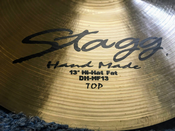 "NEW Stagg DH-HF-13 13"" Hi Hat Fat Cymbals pair"