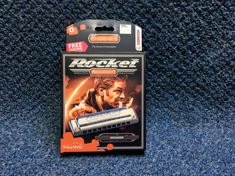 New Hohner Rocket Harmonica w/Case and Online Lessons