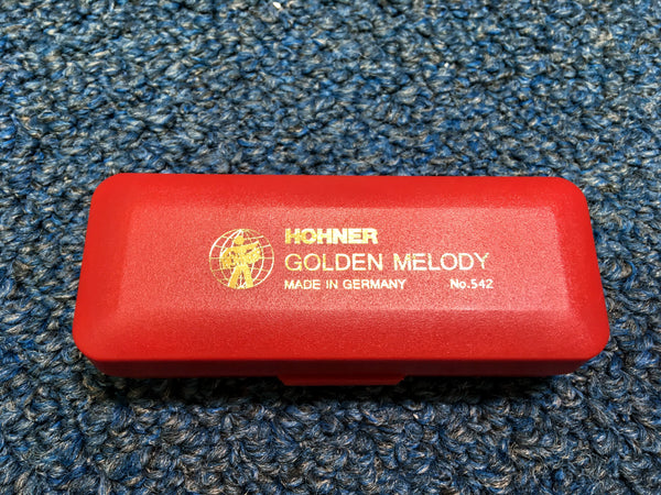 New Hohner Golden Melody Harmonica w/Case and Online Lessons