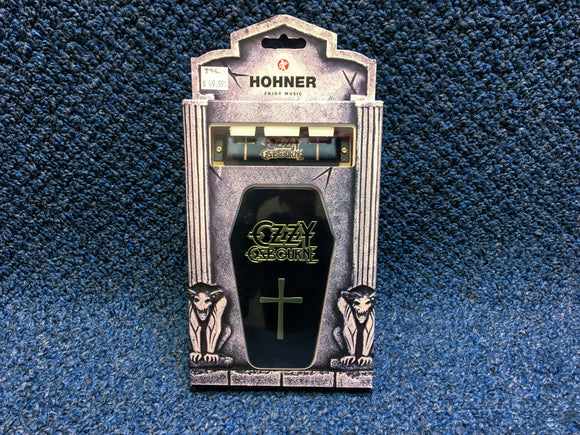 New Hohner Ozzy Osbourne Harmonica Key C w/Coffin Case and Online Lessons