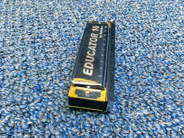 New Hohner Educator 10 Chromatic C Harmonica w/Case