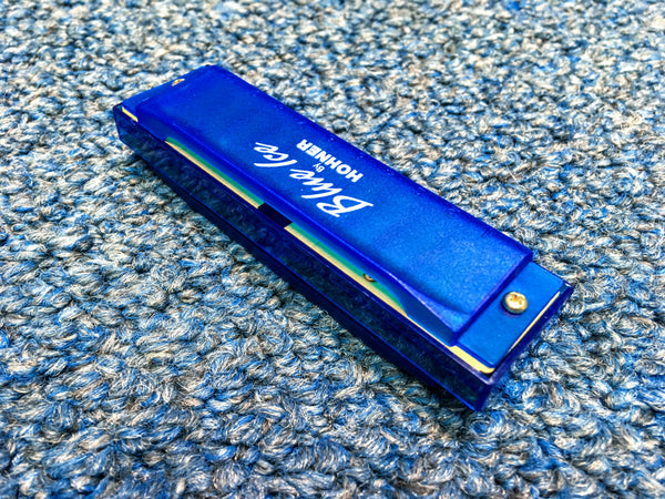 New Hohner Blue Ice 3 Harmonicas in C, D & G w/Case