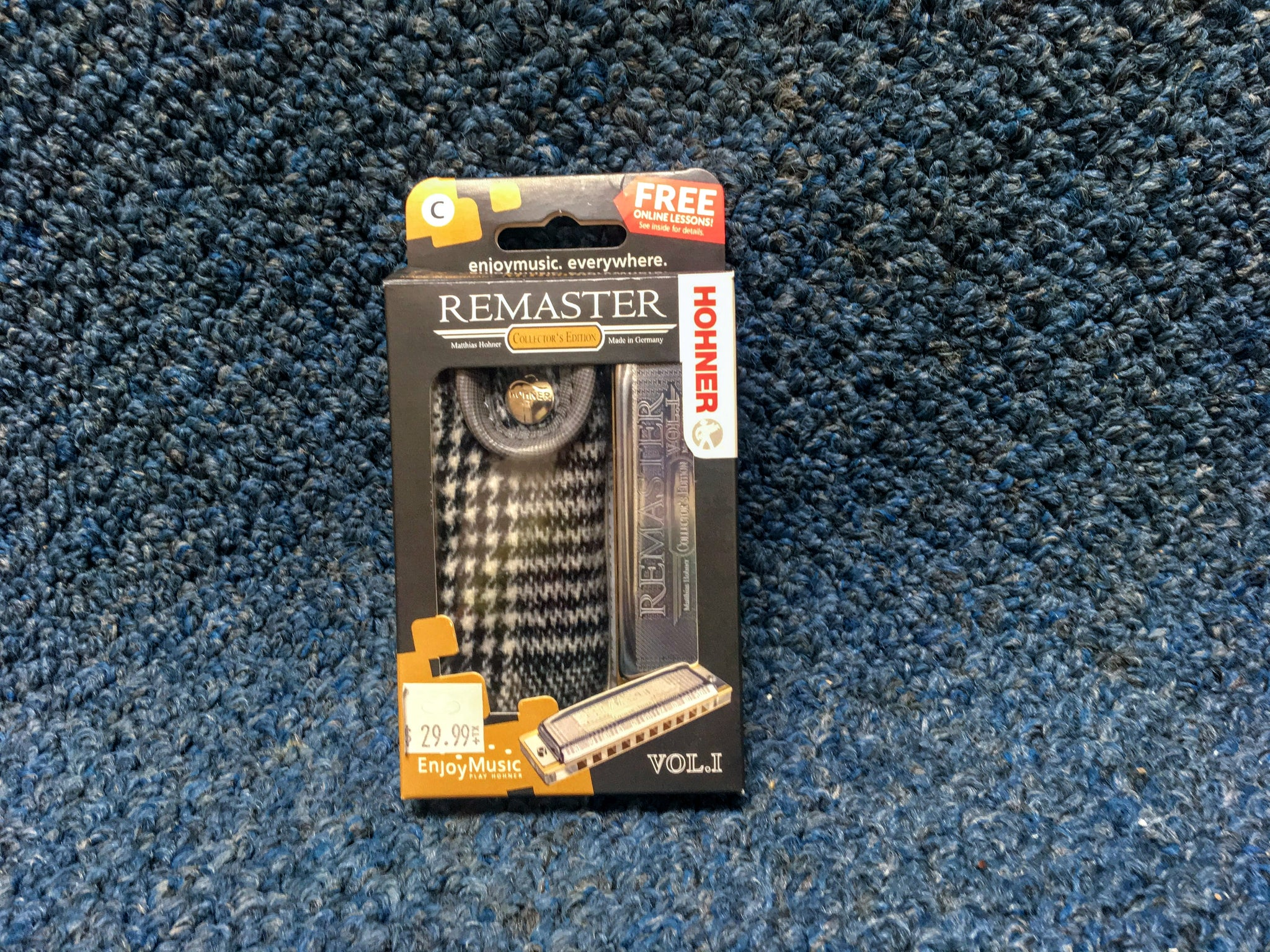 New Hohner Remaster Vol. I Harmonica Key of C w/Case and Online Lessons