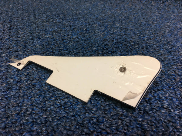 White LP Style Guitar Pickguard 3 Ply w/Hardware