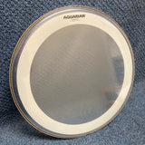 "NOS Aquarian 18"" Super-2 w/ Studio-X Ring Clear Tom Head"