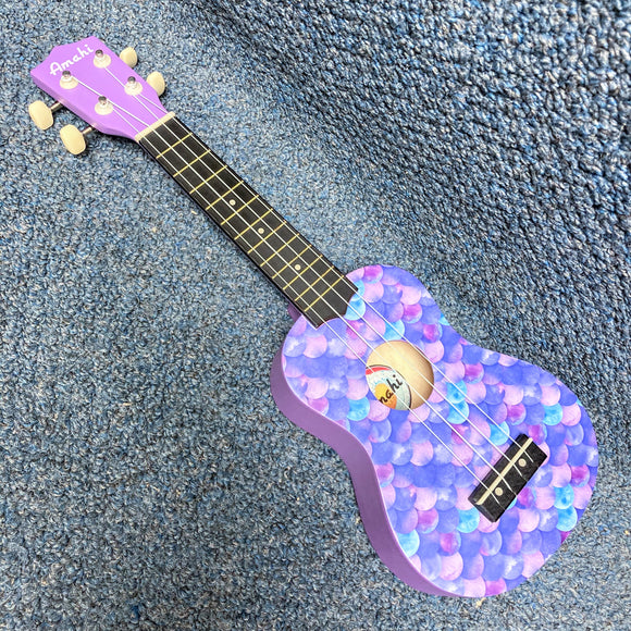 NEW Amahi DDUK12 Mermaid Soprano Ukulele w/ Cover