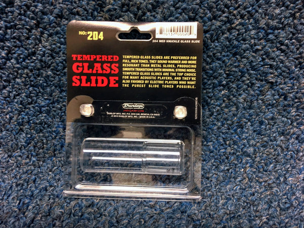 New Dunlop Glass Slide 10.5 Ring Size, #204