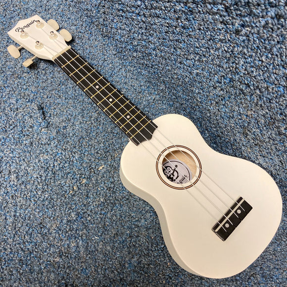 NEW Amahi Penguin PGUK White Soprano Ukulele w/Bag