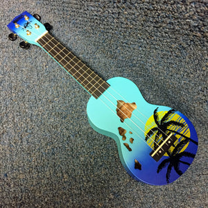 BRAND NEW Mahalo Soprano Hawaii Ukulele Blue Burst w/Cover