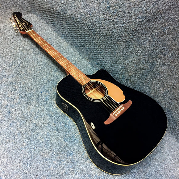 NEW Fender Redondo Player Acoustic/Electric Guitar Black