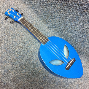 NEW Mahalo Blue Alien Soprano Ukulele w/ Cover