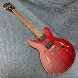 NEW Ibanez AS53-TRF Semi Hollow Archtop Guitar Trans Red Flat