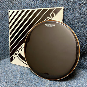 "NOS Aquarian 16"" Black Classic Clear Drum Head"