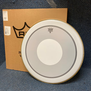 "RARE Remo 24"" Smooth White Powerstroke 3 Drum Head with White Dot"