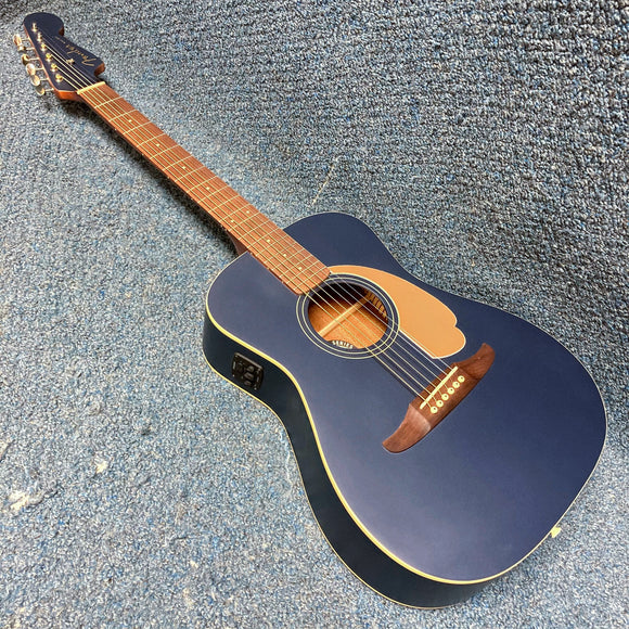 NEW Fender Malibu Player Acoustic Electric Guitar - Midnight Satin