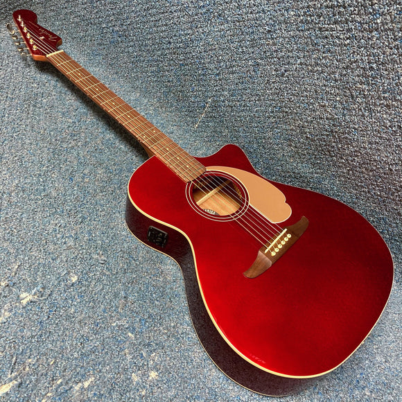NEW Fender Newporter Player Acoustic Electric Guitar - Candy Apple Red