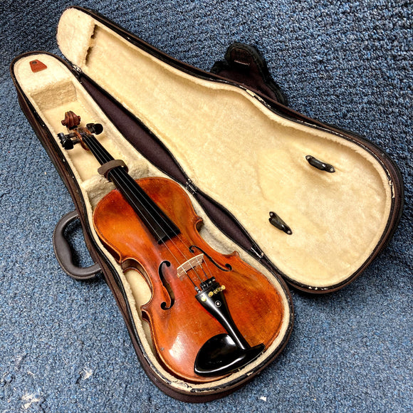 Unlabeled Flame Maple 4/4 Size Violin w/ Case