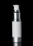 Luxe 15 ML Airless Bottle Matte Silver with White Bottle - Cosmetic Packaging Now