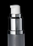 Luxe 15 ML Airless Bottle Glossy Black with Frosted Bottle - Cosmetic Packaging Now
