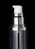 Luxe 50 ML Airless Bottle Matte Silver with Clear Bottle