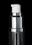 Luxe 15 ML Airless Bottle Matte Silver with Clear Bottle - Cosmetic Packaging Now