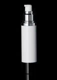 Luxe 30 ML Airless Bottle Glossy Black with White Bottle - Cosmetic Packaging Now