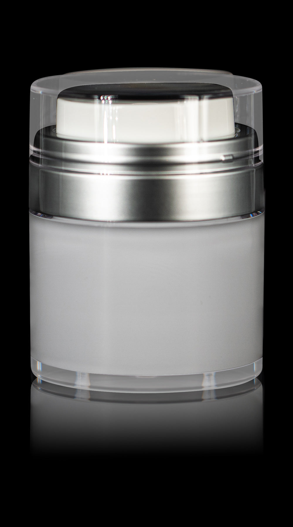 Echo 50 ML Airless Jar with Matte Silver Collar