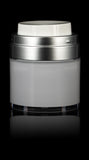 Echo 30 ML Airless Jar with Matte Silver Collar