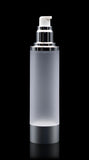 Luxe 100 ML Airless Bottle Matte Silver with Frosted Bottle - Cosmetic Packaging Now
