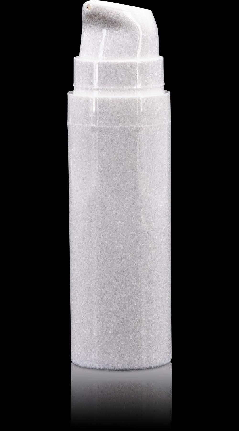 Pure 15 ML White PP Airless Bottle with Frosted Cap