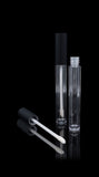 Vibe Lip Gloss Container Matte Black Cap with Clear Bottle - Cosmetic Packaging Now