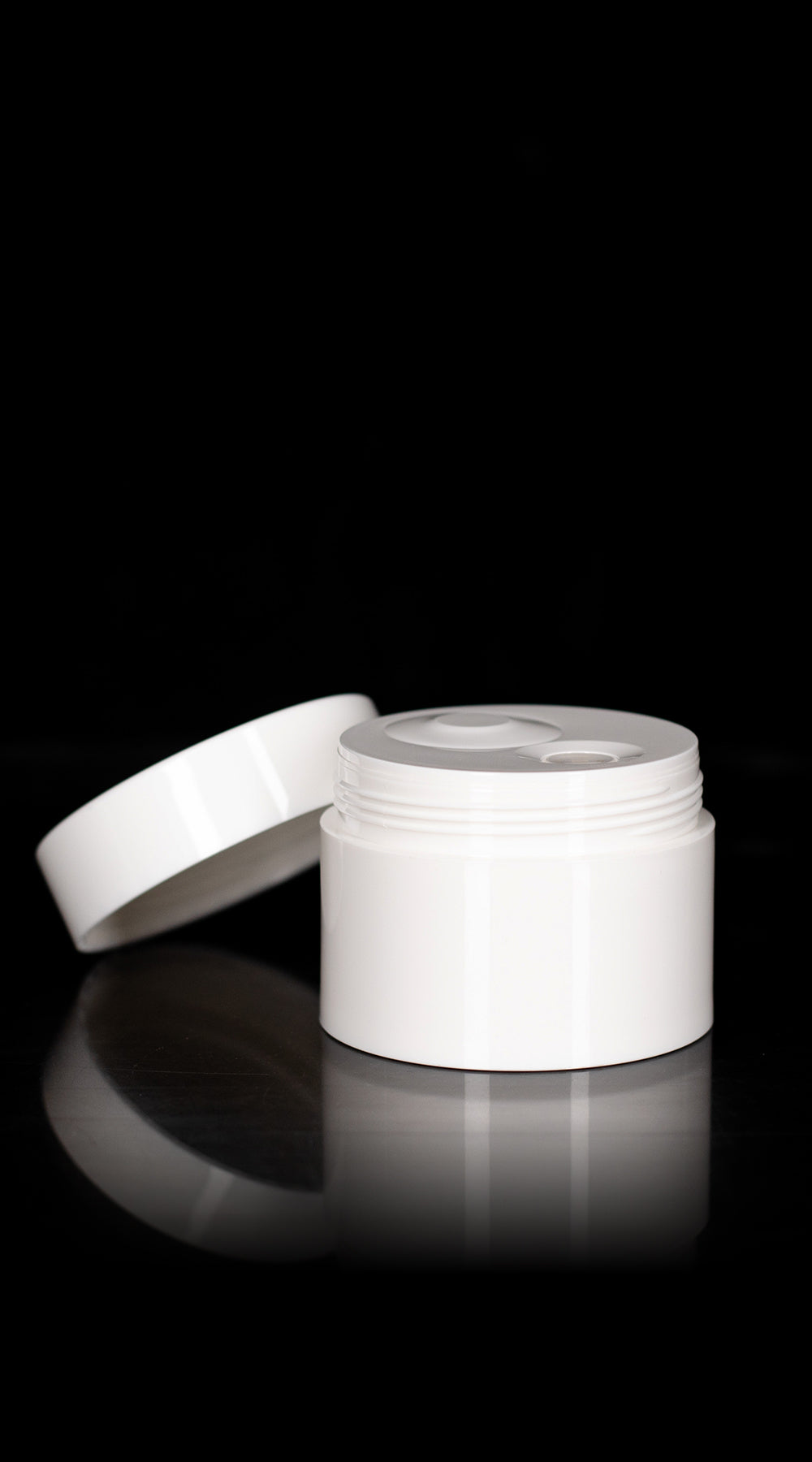 Pure 50 ML PP Airless Jar with White Cap