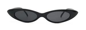 Oval frame skinny lens trendy sunglasses - 80's and 90's style