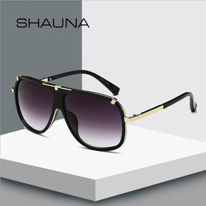 SHAUNA Retro Men Square Sunglasses Brand Designer Fashion Women Gradient Lens Glasses UV400