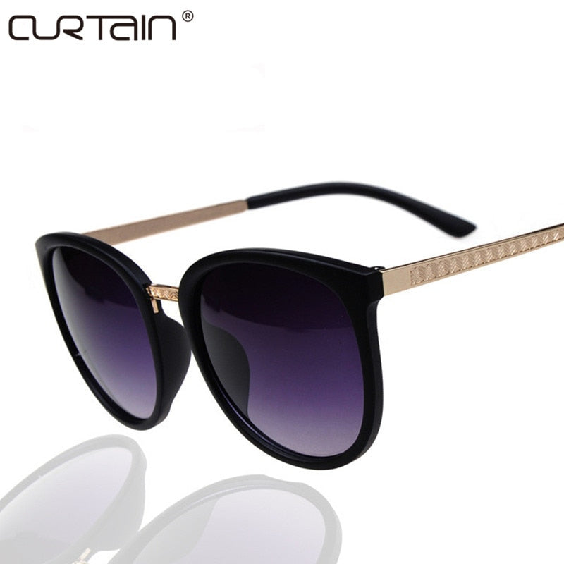 CURTAIN Round Fashion Glasses Oversized Sunglasses Women Brand Designer Luxury Womens Eyeglasses Big Cheap Shades Oculos De Sol