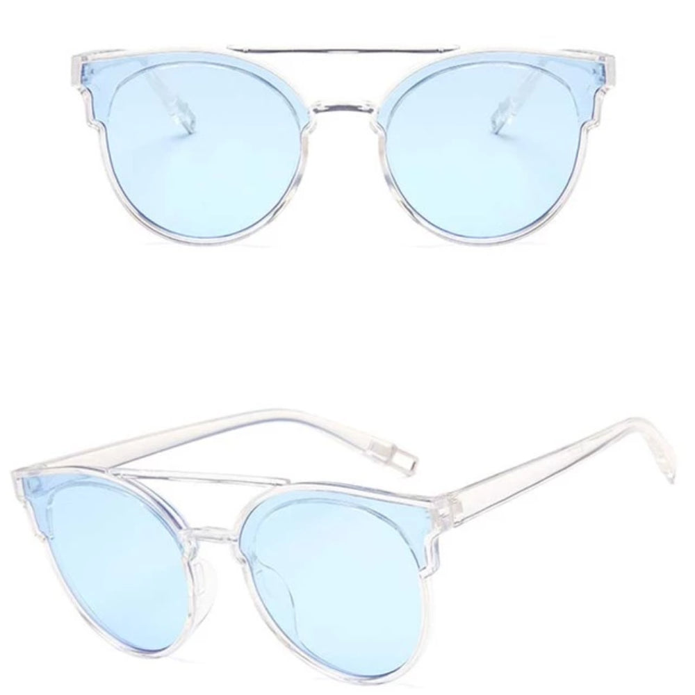 Vintage Butterfly Sunglasses Women Luxury Plastic Ocean Lens Sun Glasses Classic Retro