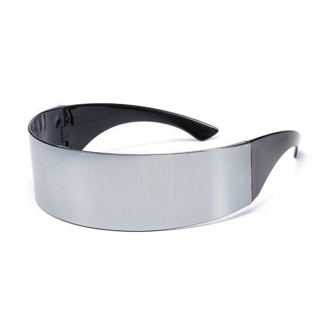 YOOSKE Funny Futuristic Wrap Around Monob Costume Sunglasses Mask Novelty Glasses Halloween Party Party Supplies Decoration