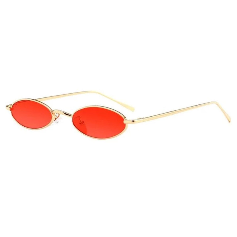 Small Oval Frame Retro Sunglasses - 80's & 90's Style UNISEX